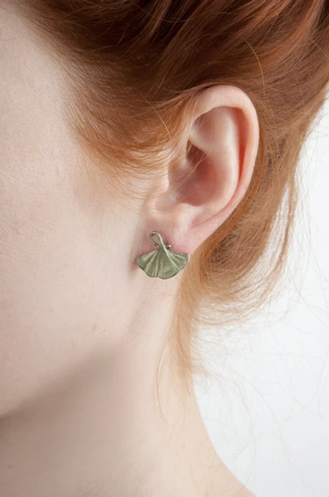 Gingko Post Earrings | Michael Michaud Jewelry | SS4918BZ