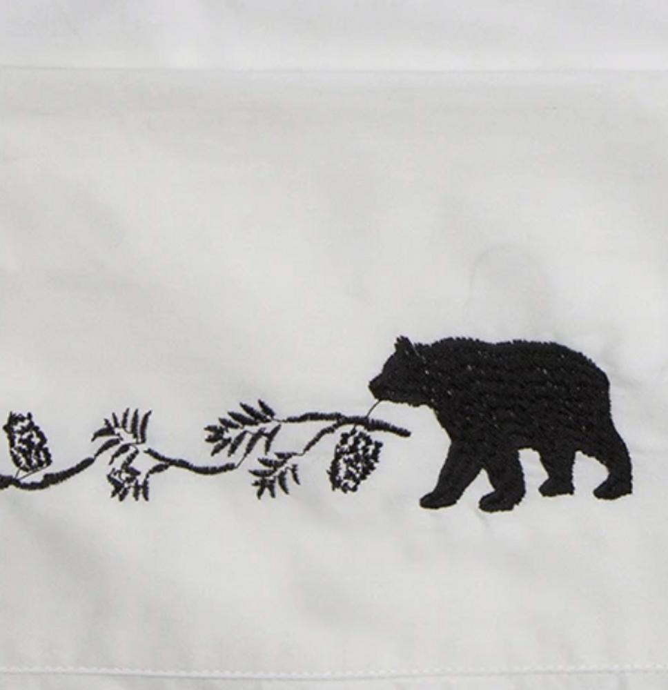 Embroidered Bear Queen Cotton Sheet Set | Carstens | JS200-Q