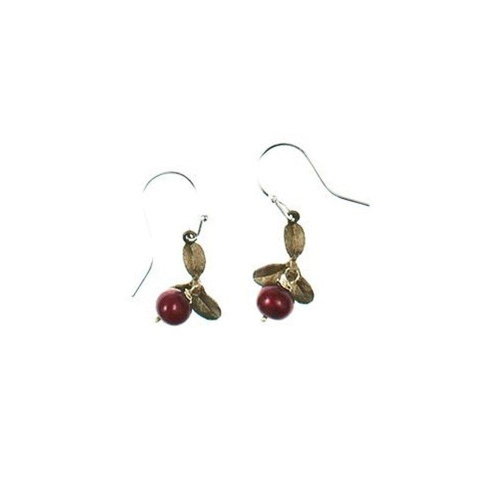 Cranberry Wire Drop Earrings | Michael Michaud Jewelry | SS4922BZCR