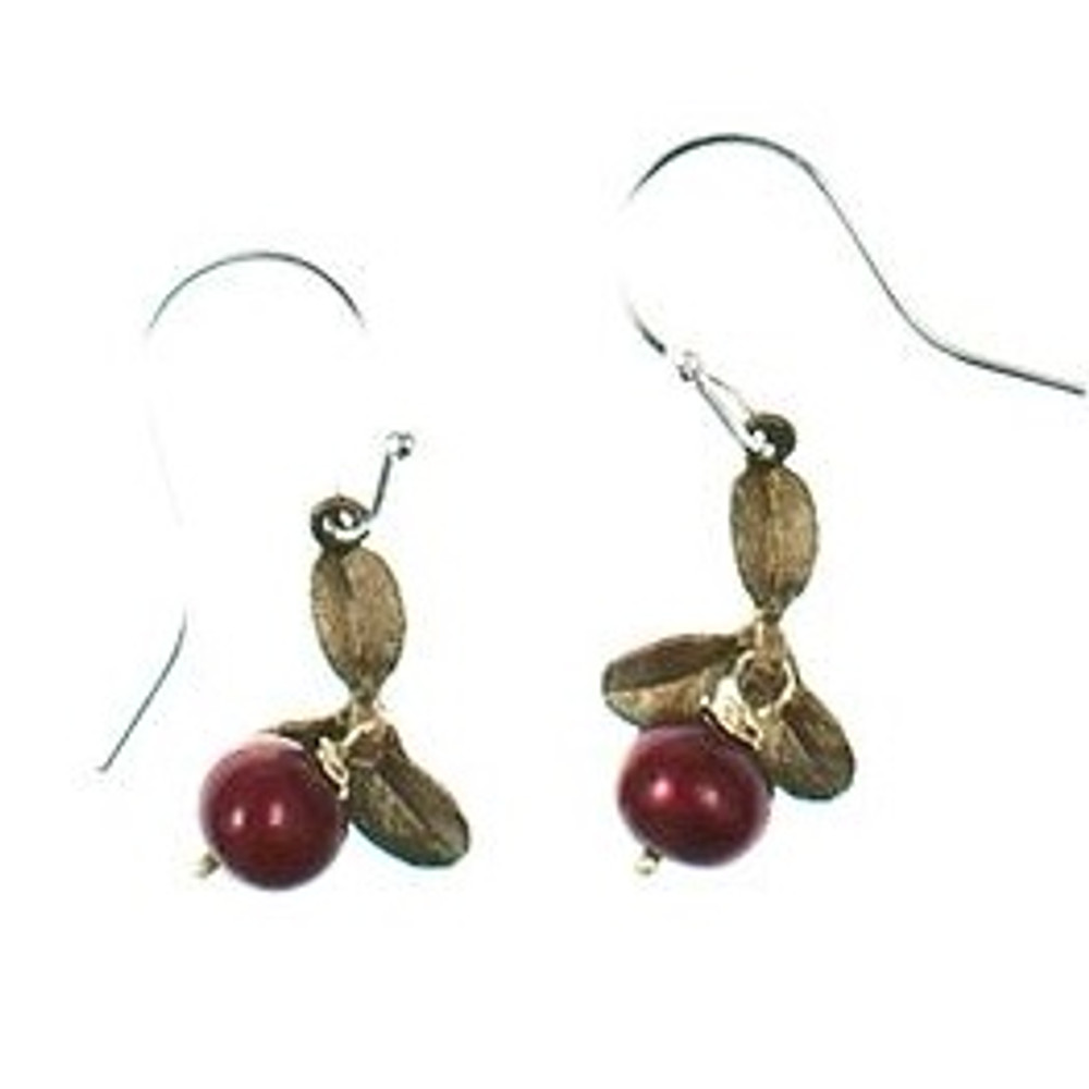 Cranberry Wire Drop Earrings | Michael Michaud Jewelry | SS4922BZCR -2