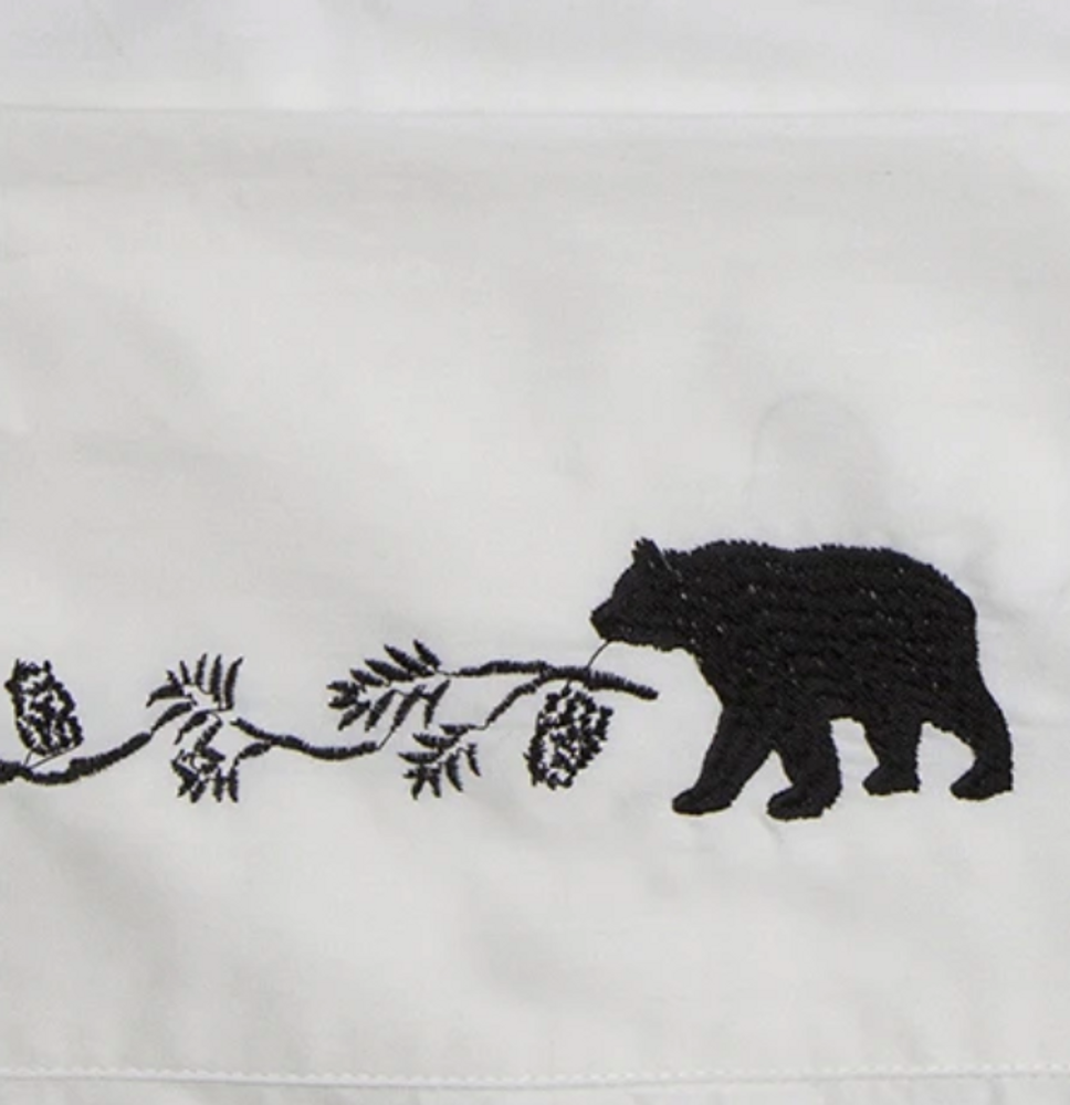 Embroidered Bear Full Cotton Sheet Set | Carstens | JS200-F