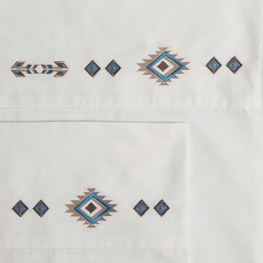 Southwest Embroidered Diamond King Cotton Sheet Set | Carstens | JS205-K