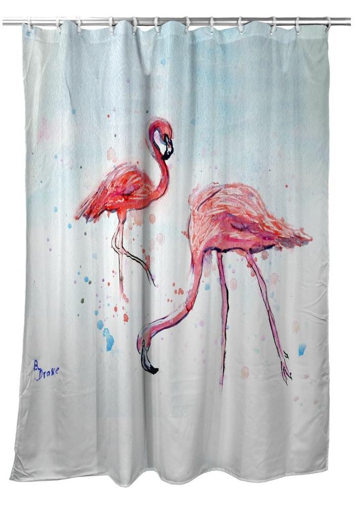 "Flamingos Shower Curtain ""Betsy's Flamingos""   BDSH636"
