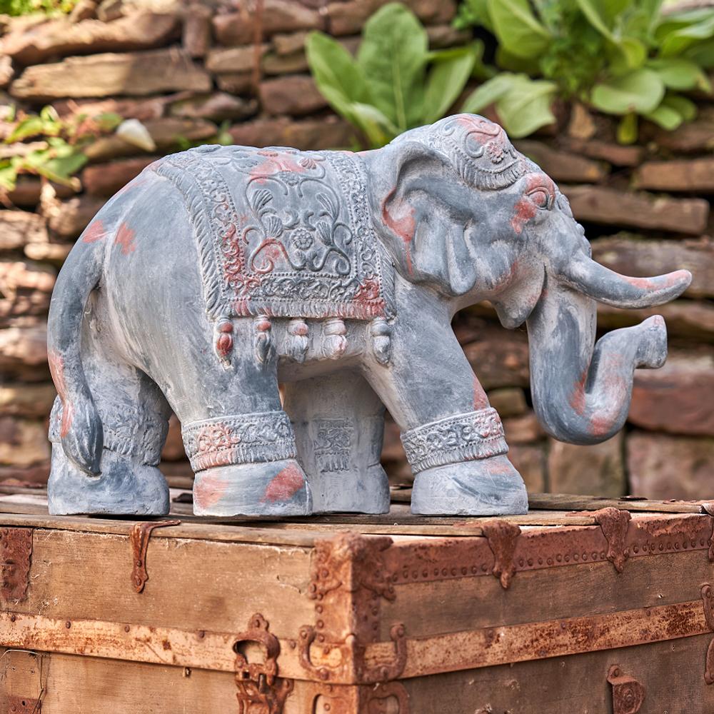 Boho Elephant Garden Statue | Zaer International | ZR180388