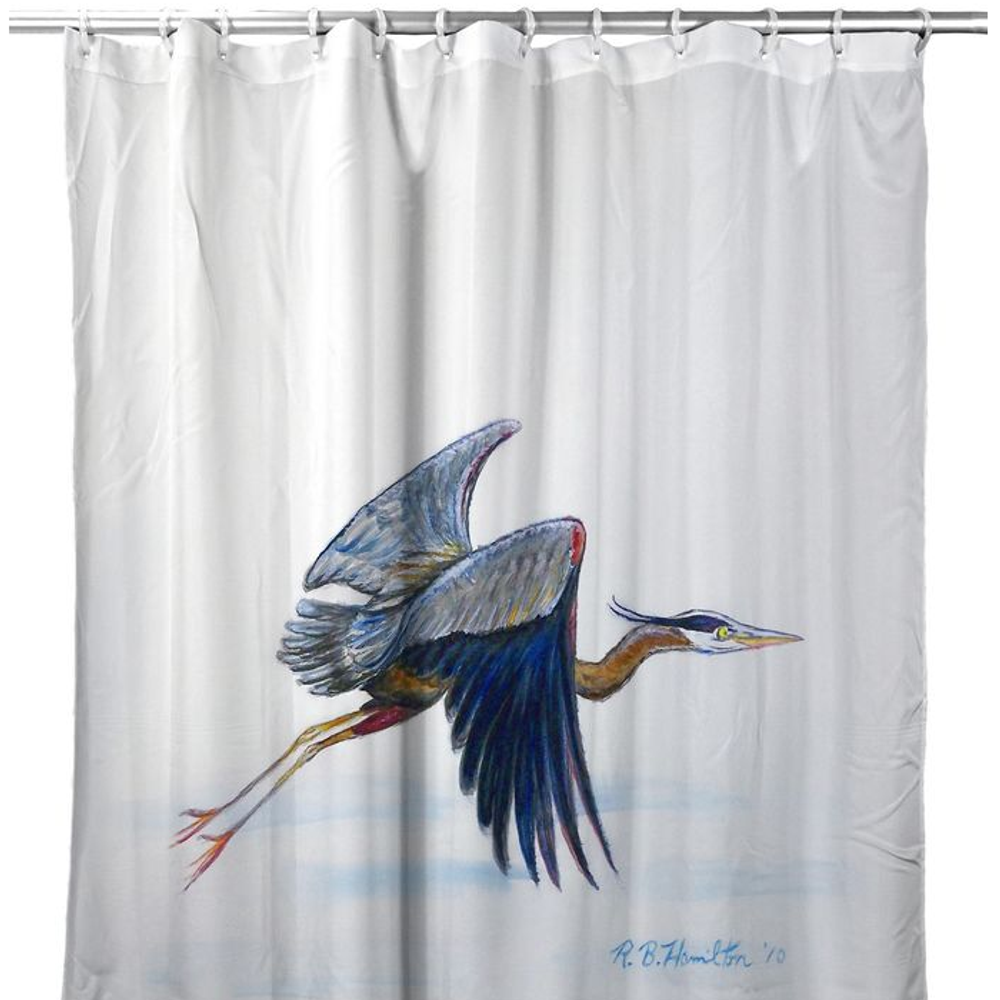 Eddie's Blue Heron Shower Curtain   BDSH327