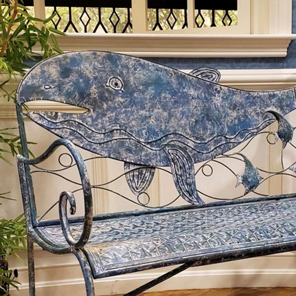 Whale Iron Garden Bench | Zaer International | ZR180802
