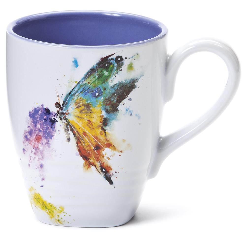 Butterfly Stoneware Mug | Big Sky Carvers | 3005050300