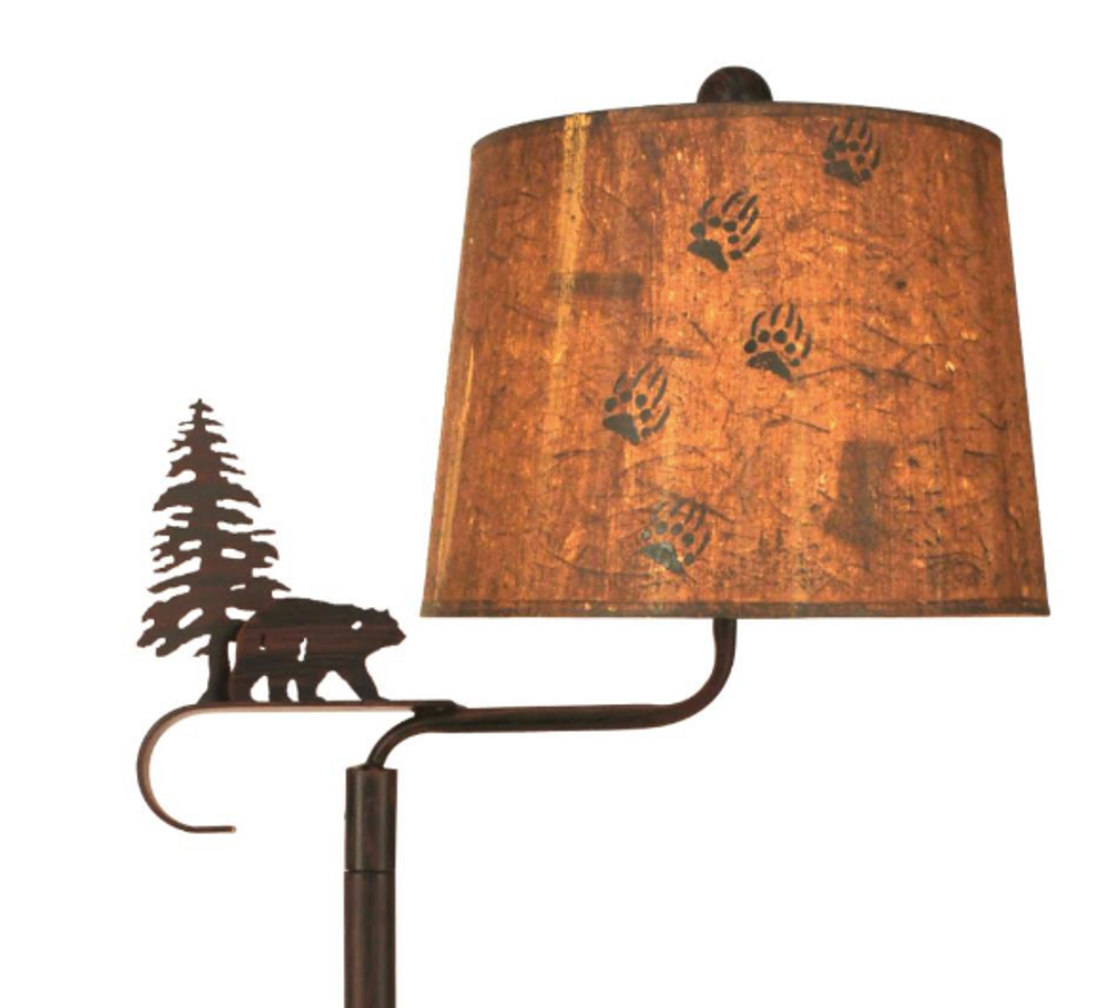 Bear and Pine Burnt Sienna Swing Arm Table Lamp | Coast Lamp | 17-R19A