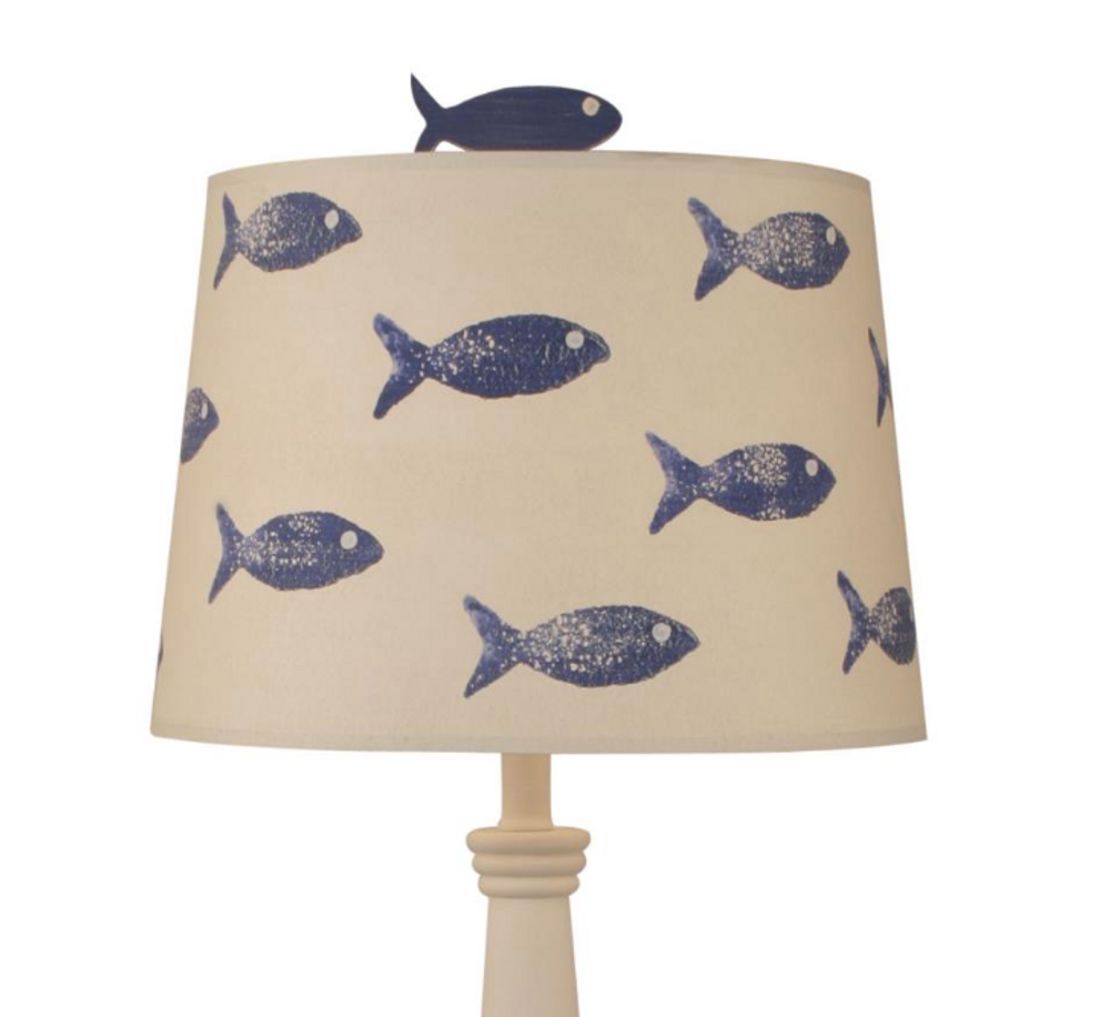 School of Fish Nude Stripe Pedestal Table Lamp | Coast Lamp | 12-B13C