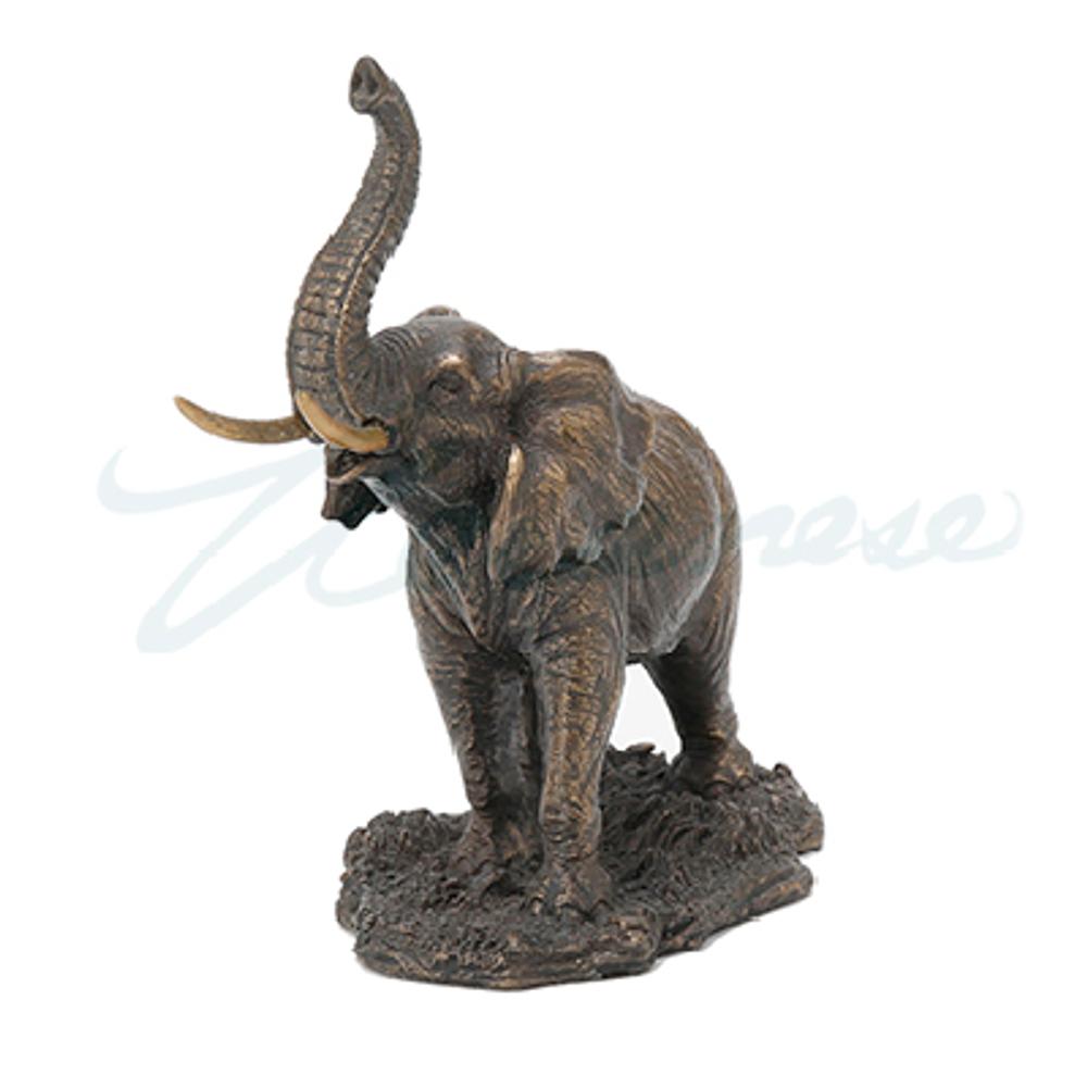 Elephant with Raised Trunk Sculpture   Unicorn Studios