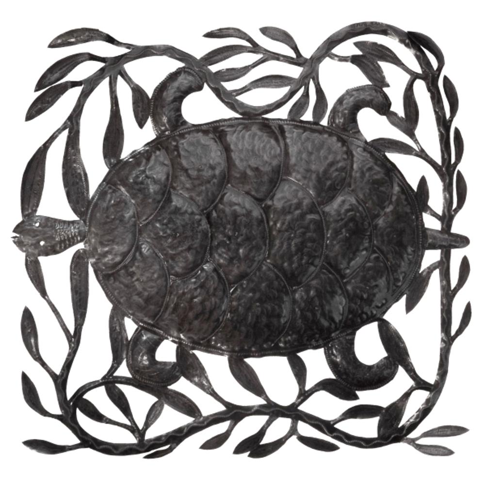 Turtle Square Metal Wall Art | Le Primitif