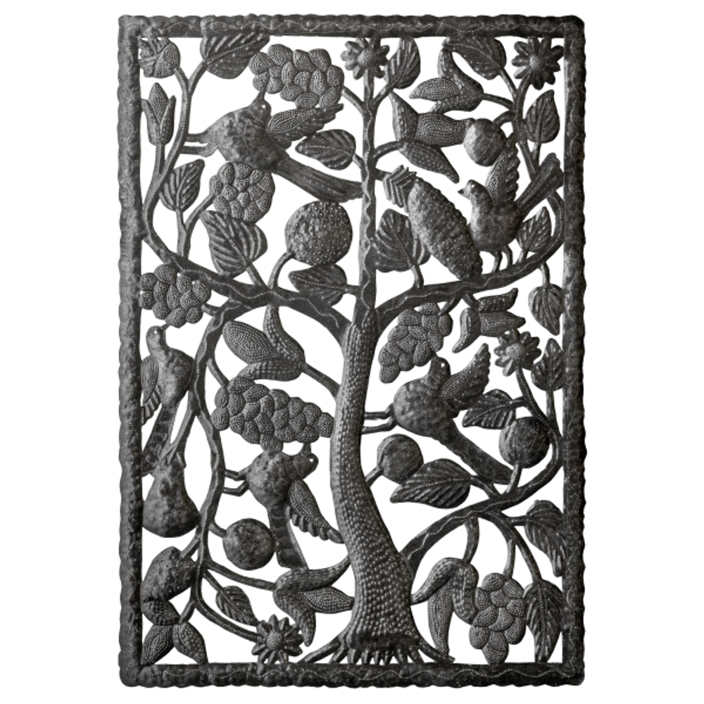 Birds and Fruits Metal Wall Art | Le Primitif