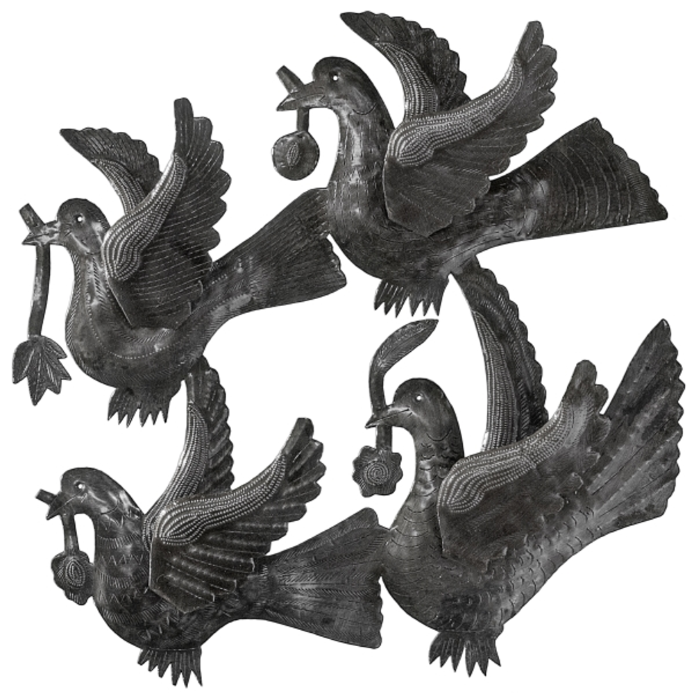 Four Birds Metal Wall Art | Le Primitif