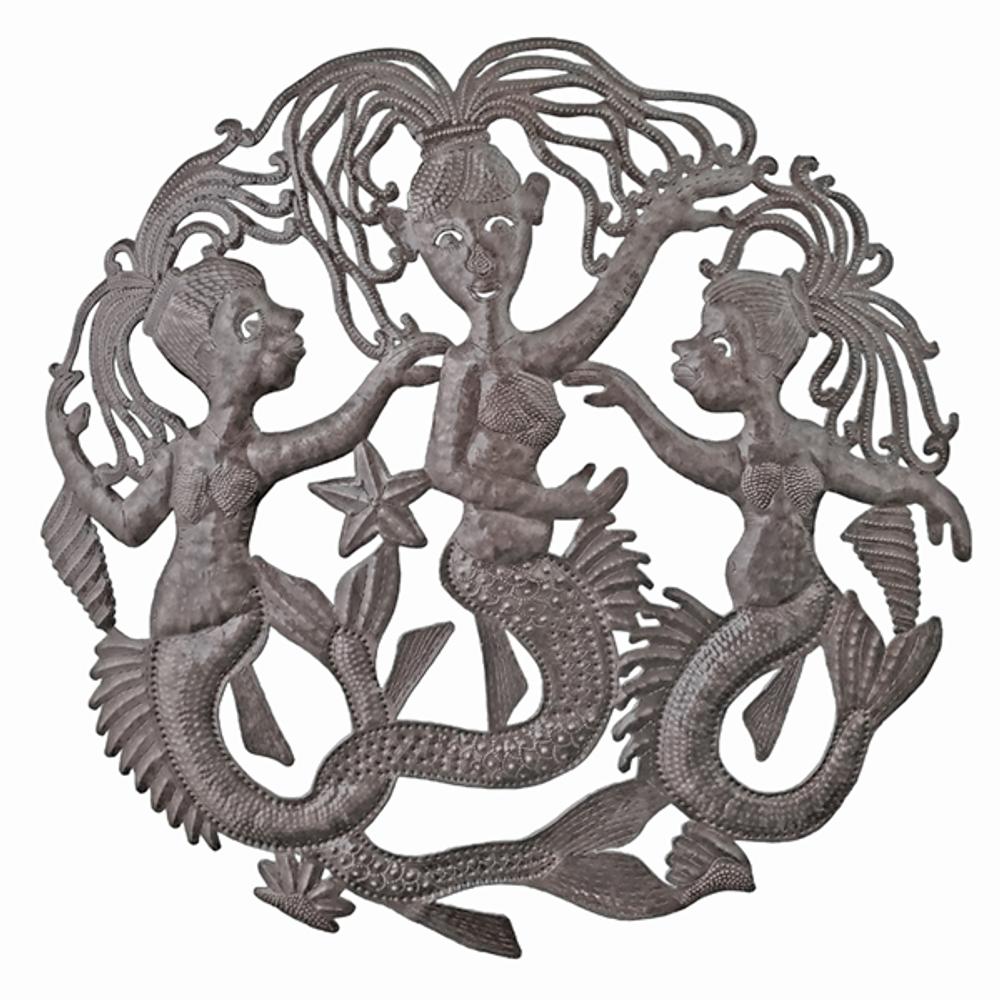 Mermaid Sisters Metal Wall Art | Le Primitif