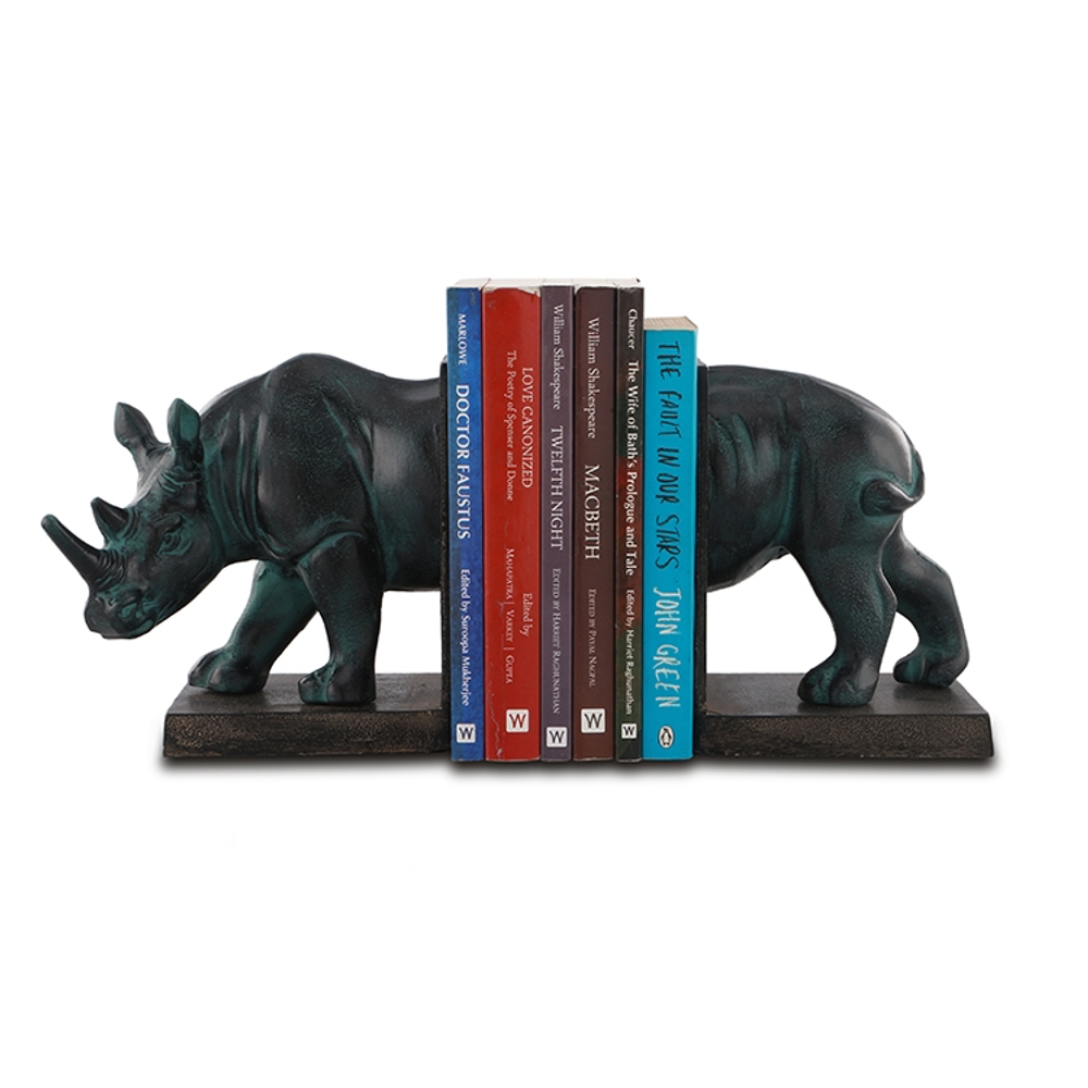 Rhinoceros Bookends Pair | SPI Home