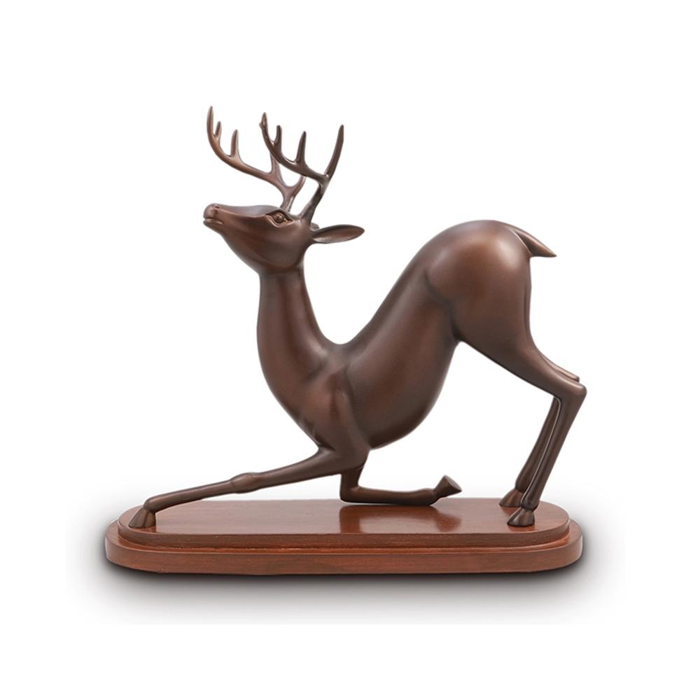 Deer Stretching Desktop Sculpture | SPI Home