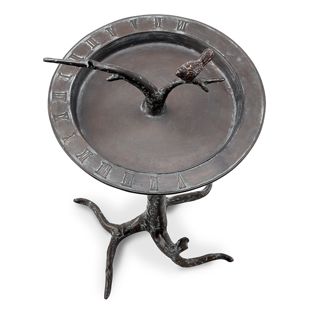 Bird and Twig Sundial Birdbath   SPI Home