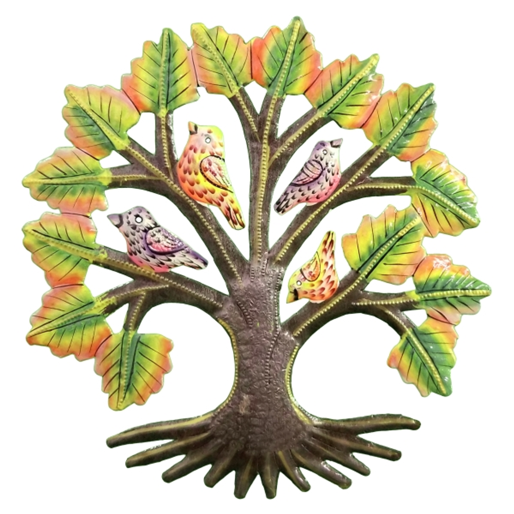 Autumn Tree Painted Metal Wall Art | Le Primitif