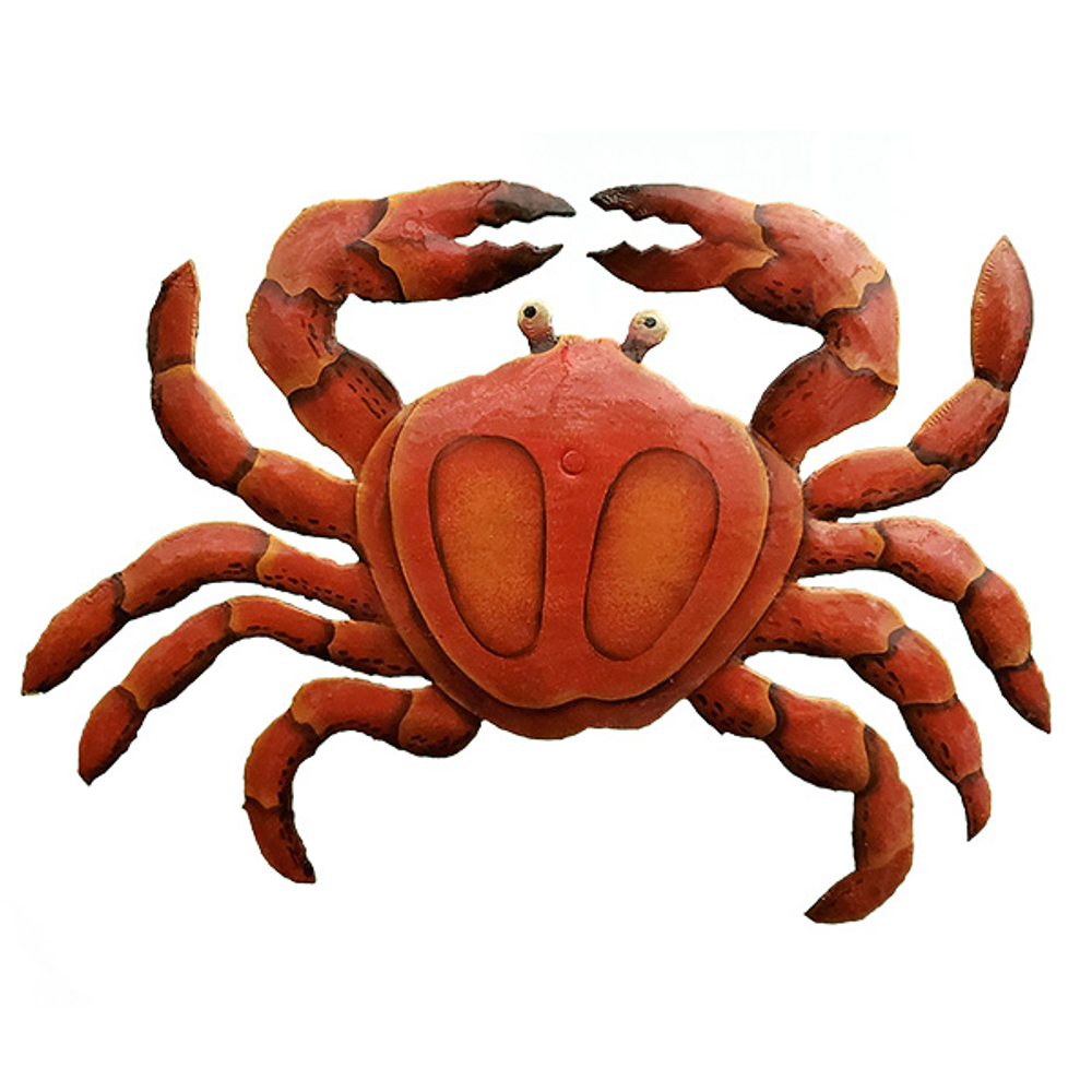 Crab Painted Metal Wall Art   Le Primitif