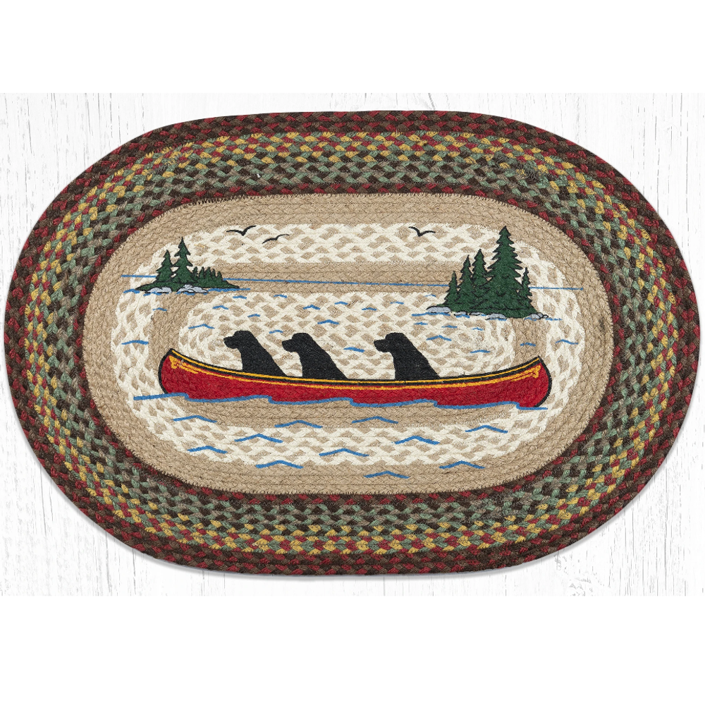 Labs In Canoe Oval Braided Rug   Capitol Earth Rugs   OP-081