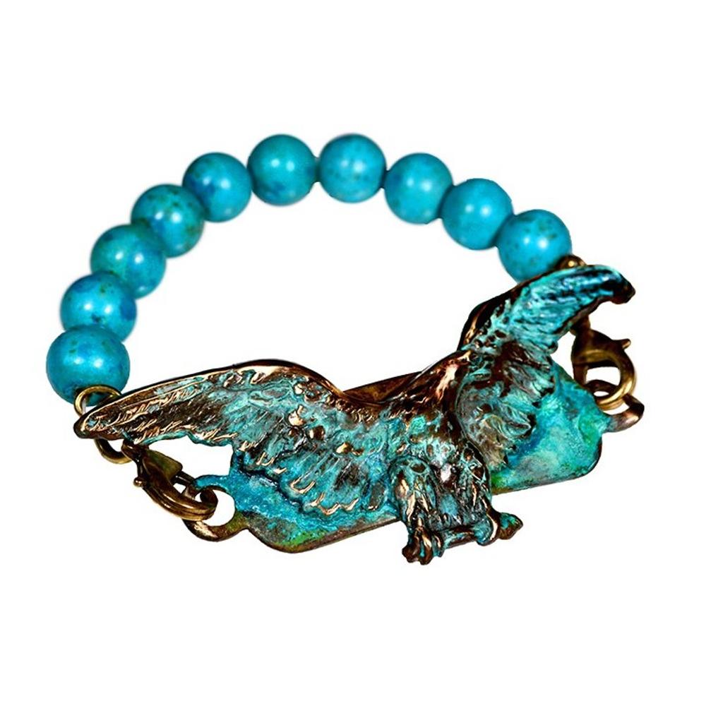 Eagle Brass Rockband Bracelet | Elaine Coyne Jewelry | EP2RB-3