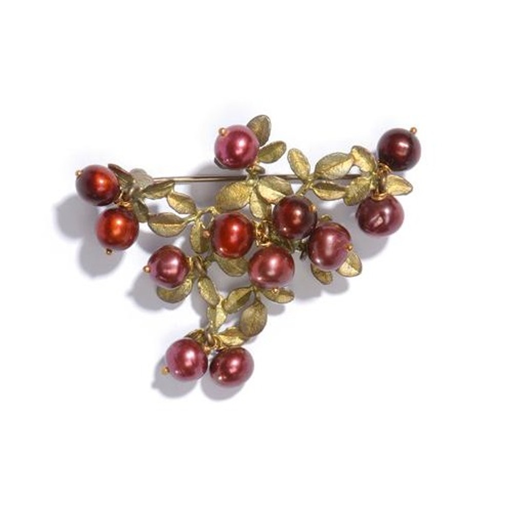 Cranberry Design Pin | Michael Michaud Jewelry | SS5669bzcr