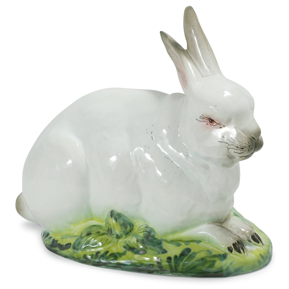 Bunny Laying Down Ceramic Sculpture | Intrada Italy | HOP9051