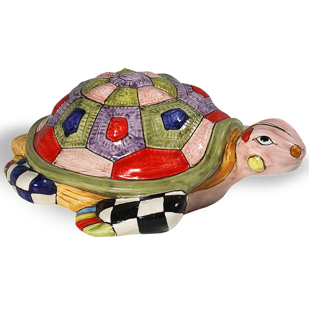 Fantasia Turtle Ceramic Sculpture | Intrada Italy | MAJ7870T