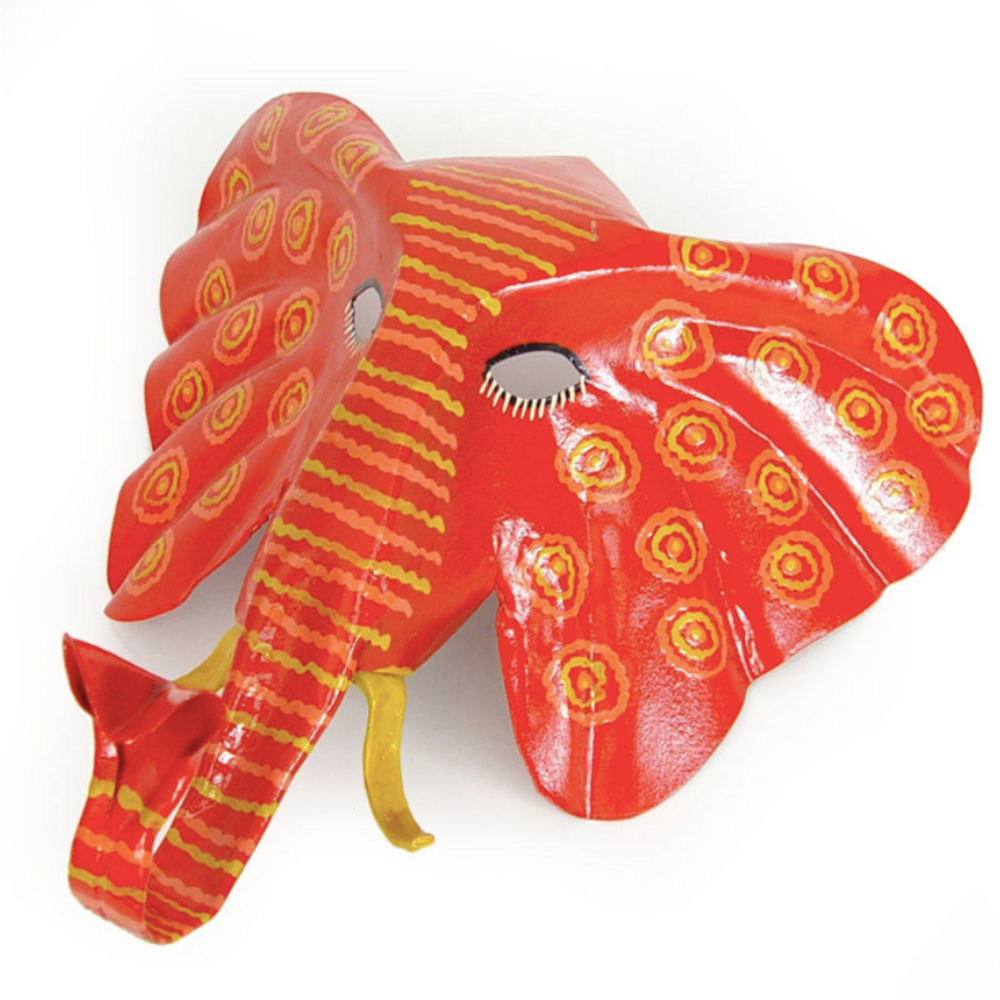 Elephant Painted African Animal Mask Wall Art | Mbare | PTM-ELE
