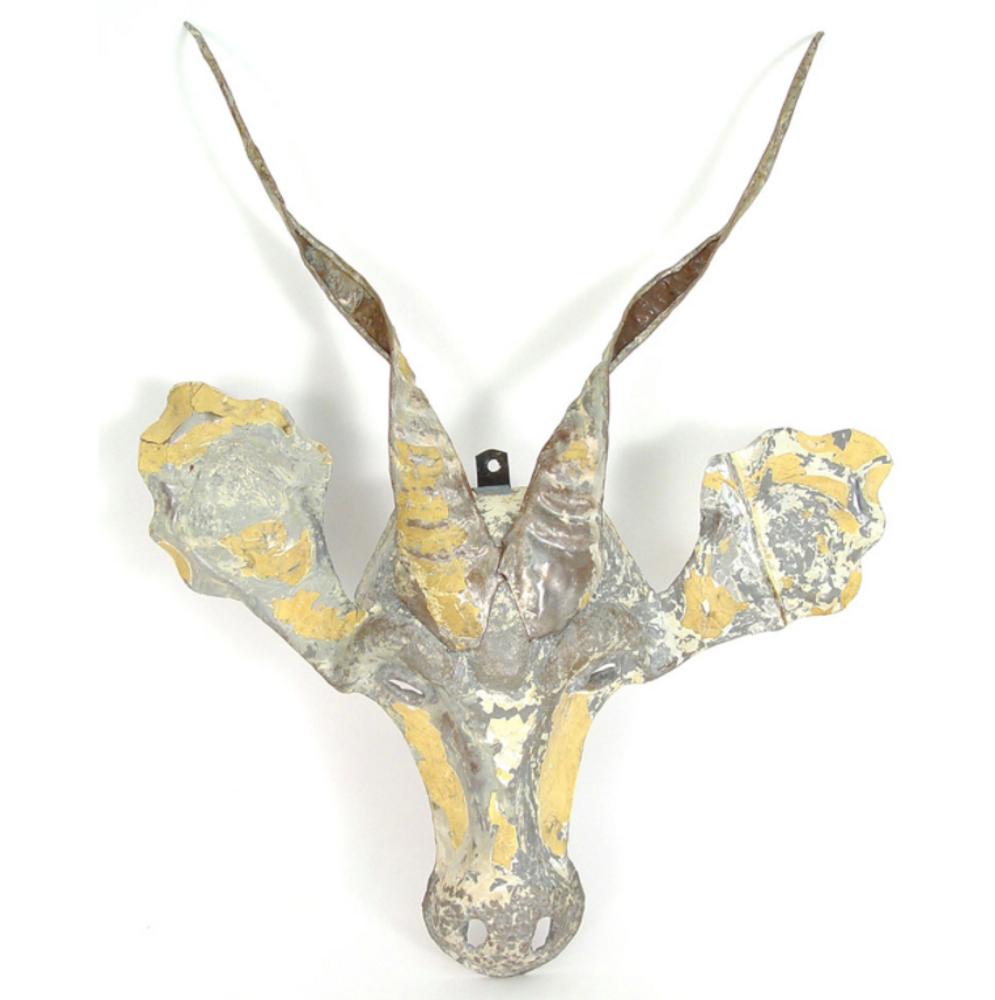 African Kudu Animal Mask Recycled Metal Wall Art | Mbare | RCTM-K