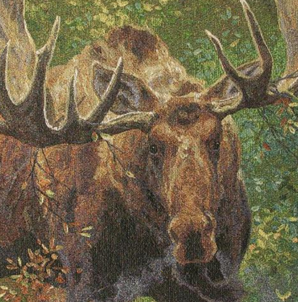 Moose Wide Load Tapestry Throw Blanket | Manual Woodworkers | ATWLM
