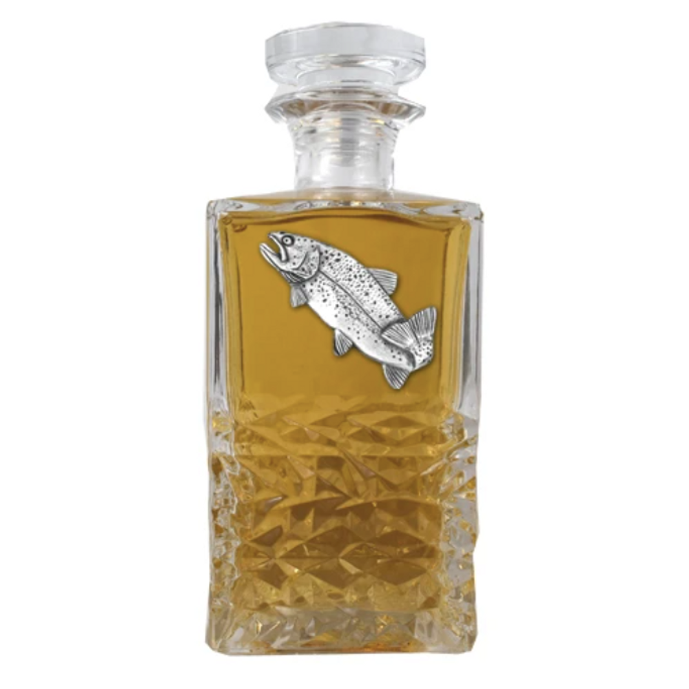 Trout Heritage Decanter   Heritage Pewter   HD4034