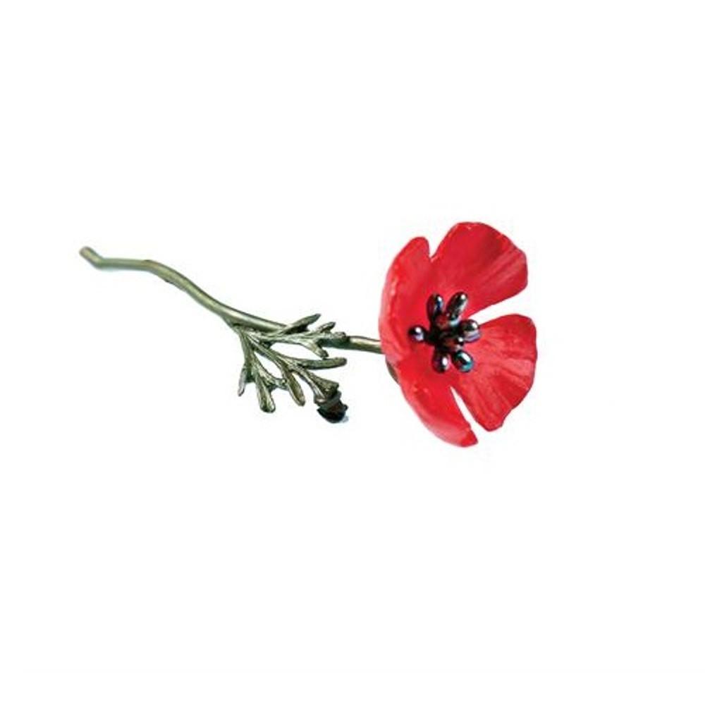 Red Poppy Pin | Michael Michaud Jewelry | SS5803BZPK