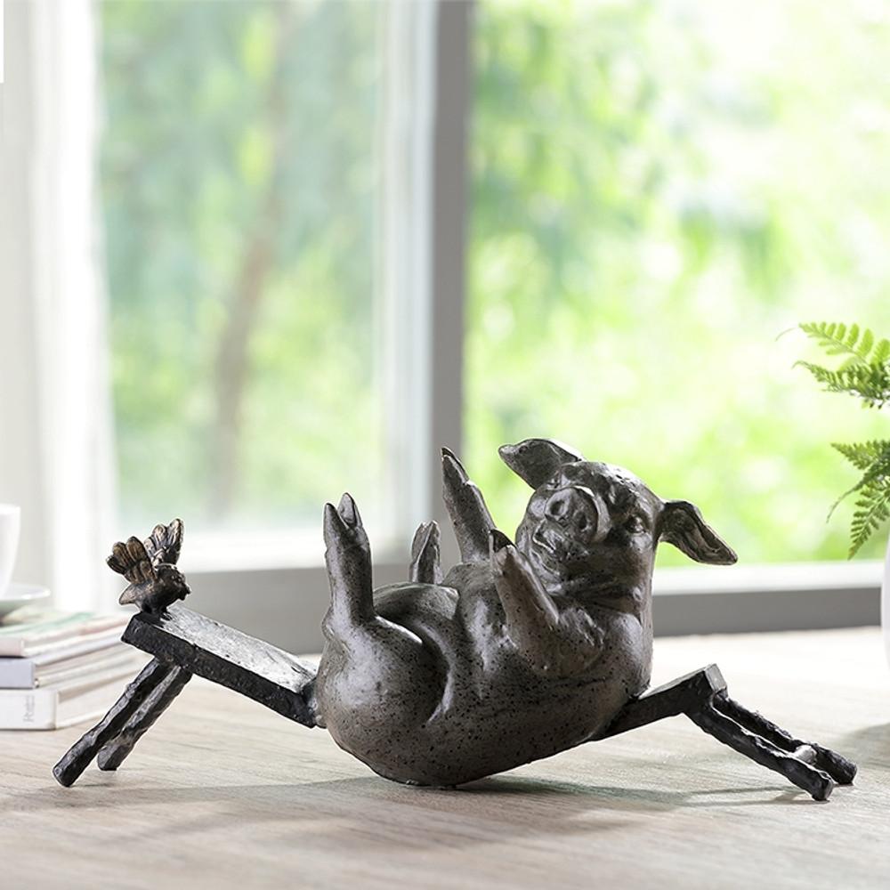 Fat Pig Broken Bench Desktop Sculpture | SPI Home | 51106