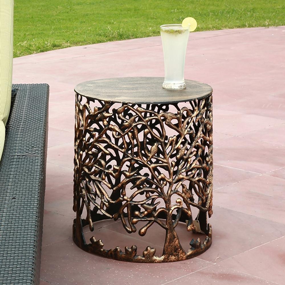 Tree Lattice Patio Table Garden Stool   SPI Home   21003