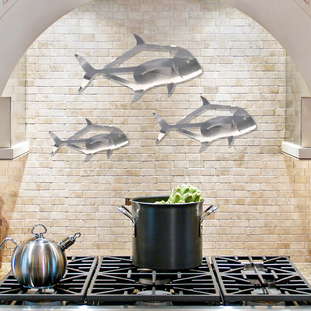 African Pompano Stainless Steel Wall Art | R Mended Metals | 100603 -2