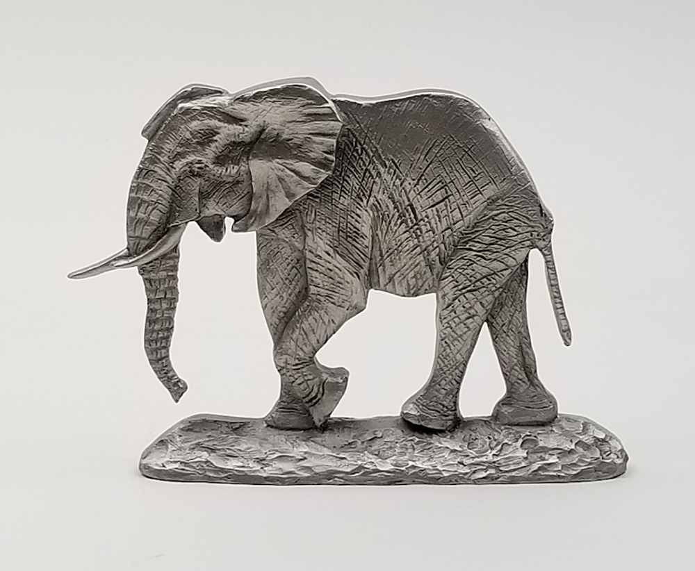 African Elephant Pewter Shelf Accent Sculpture | Andy Schumann | SCHAFELESHELF