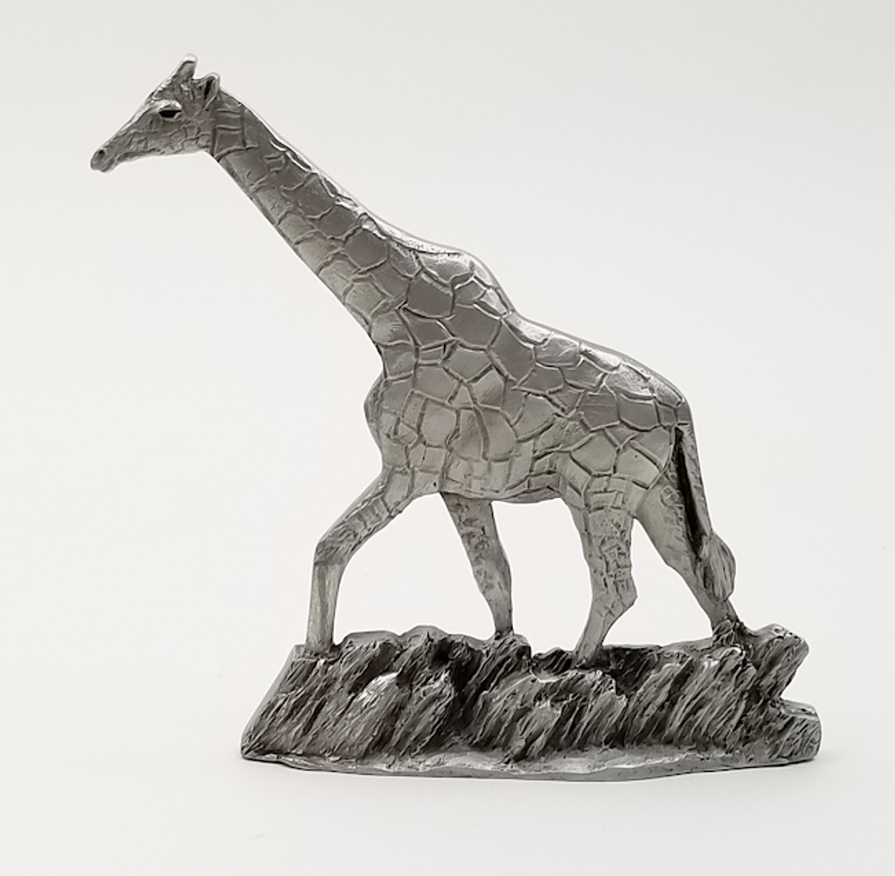 Giraffe Pewter Shelf Accent Sculpture | Andy Schumann | SCHGIRAFFESHELF