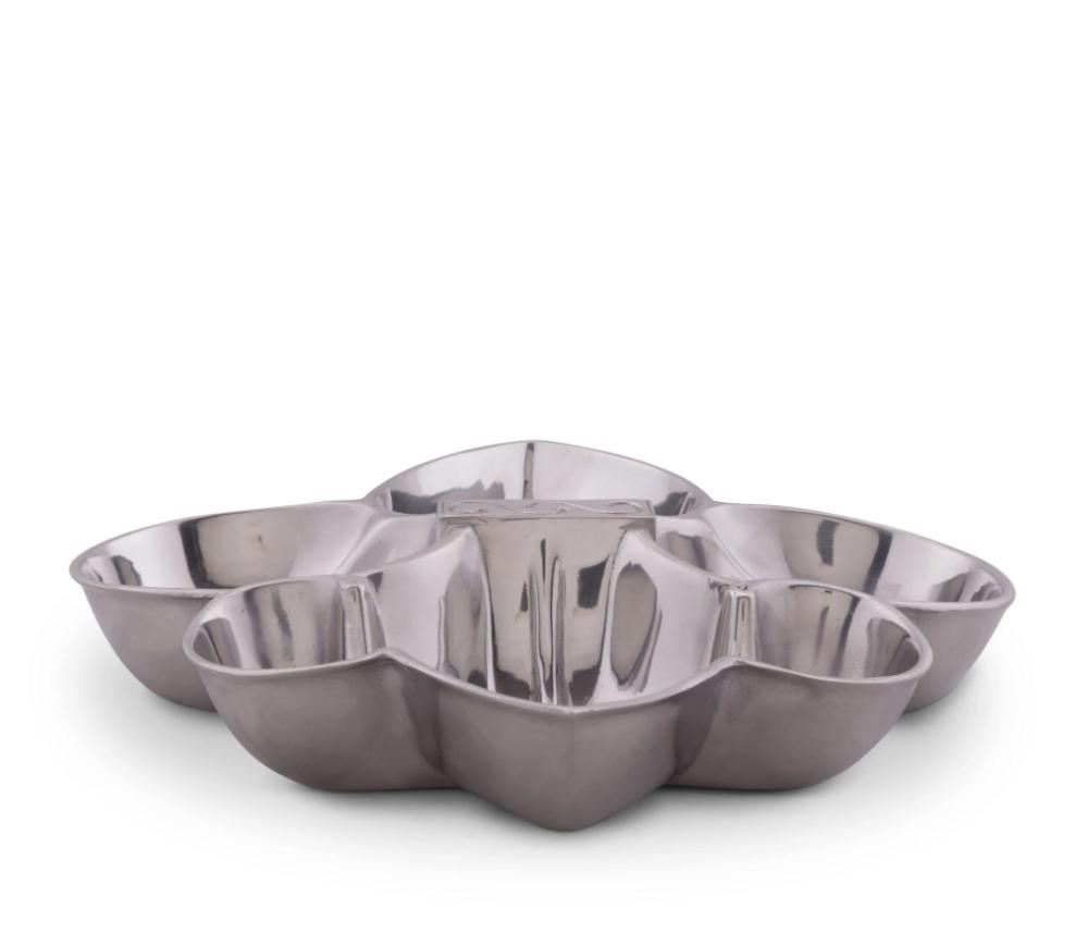 Fleur de Lis 4-Section Serving Bowl   Arthur Court Designs   115E14