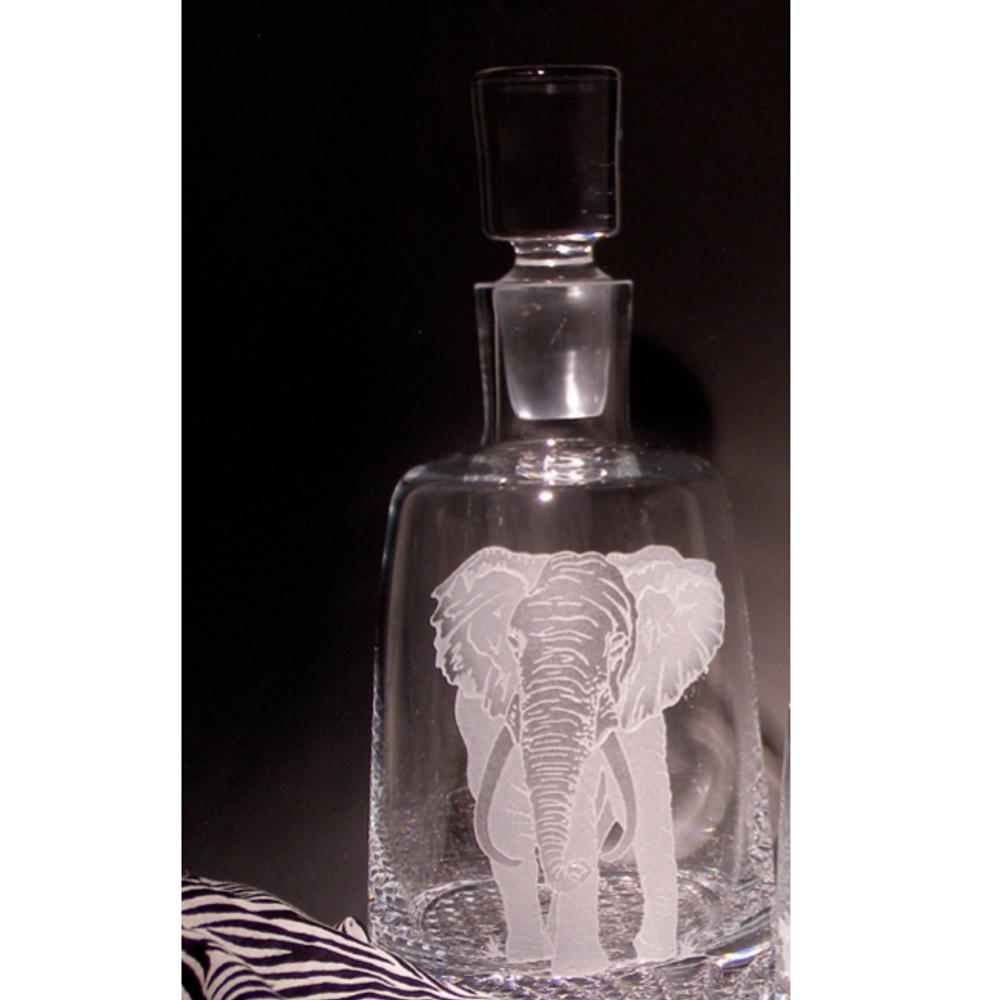 Elephant Presidential Crystal Decanter   Evergreen Crystal   ECAF-01659