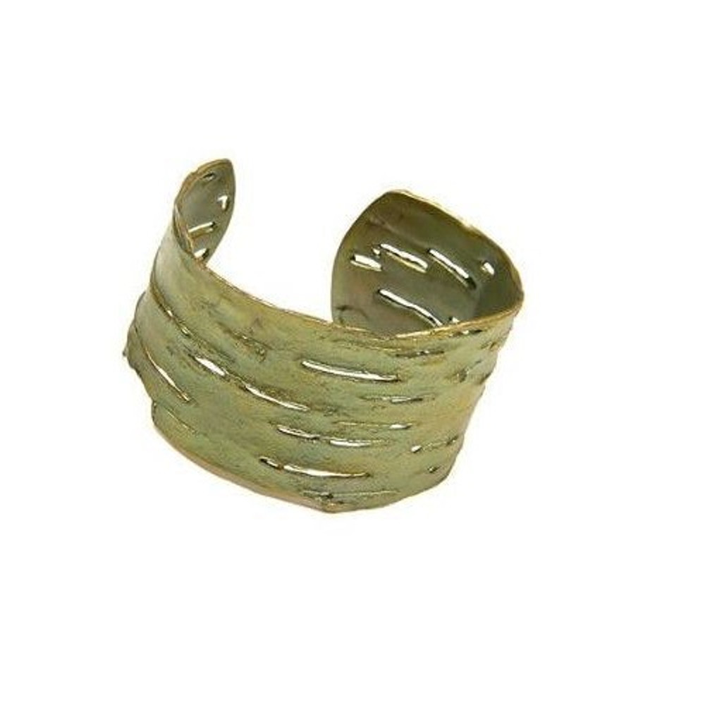 Birch Bark Bronze Cuff Bracelet | Michael Michaud Jewelry | SS7116BZ
