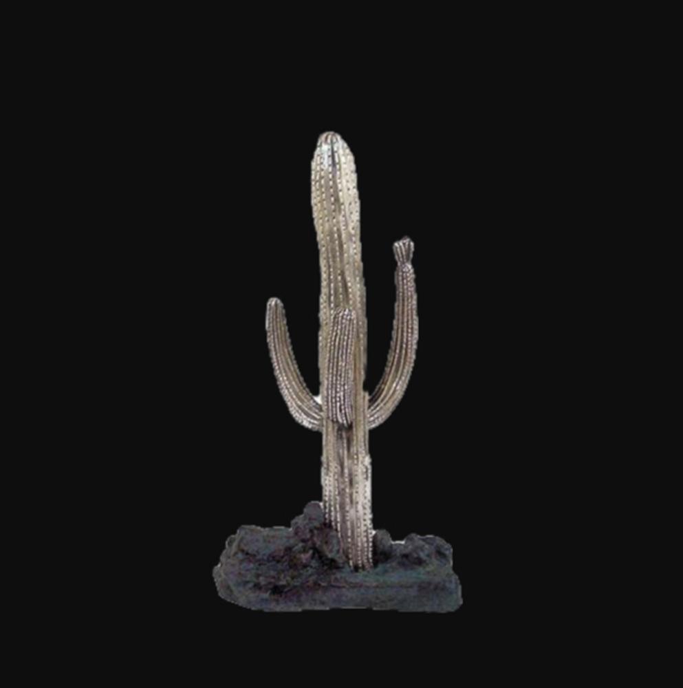 Saguaro Cactus Silver Plated Large Sculpture | C-1 | D'Argenta