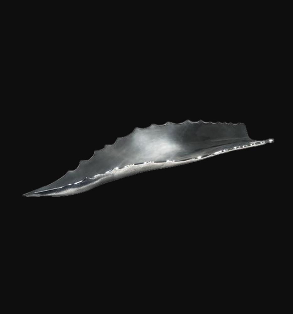Agave Leaf Silver Plated Centerpiece Fruit Bowl | U-46 | D'Argenta