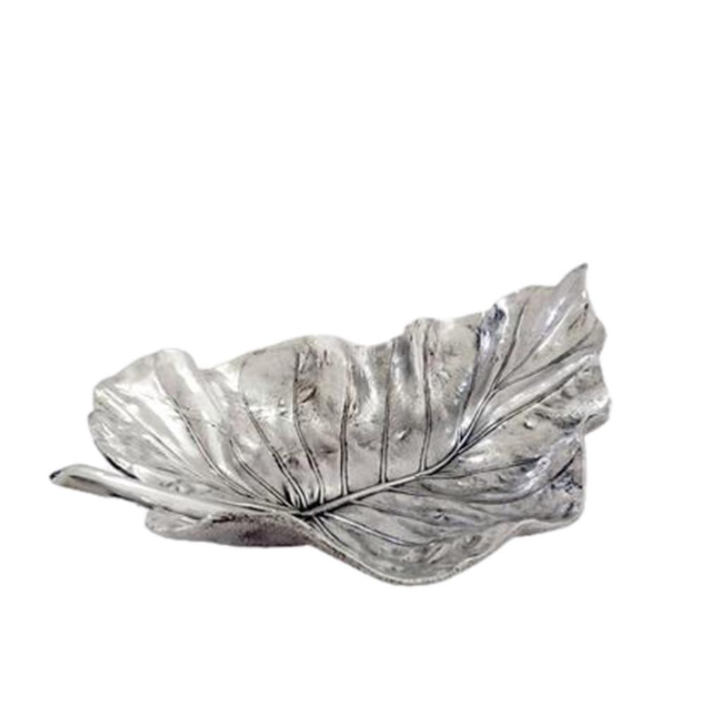 Elephant Ear Leaf Silver Plated Fruit Bowl Centerpiece | U-35 | D'Argenta