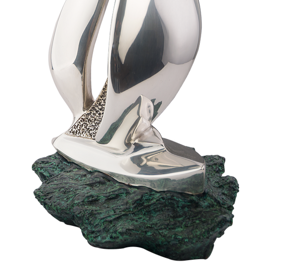 Sailboat at Sea Silver Plated Sculpture | 57 | D'Argenta