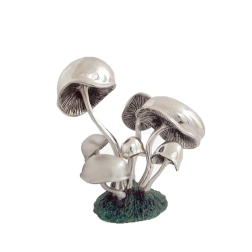 Mushrooms Silver Plated Sculpture   2528   D'Argenta