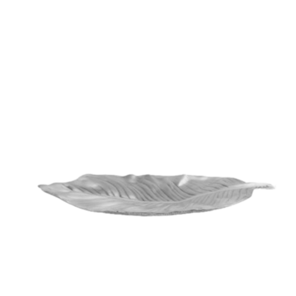 Tropical Leaf Silver Plated Fruit Bowl Centerpiece | U-39 | D'Argenta