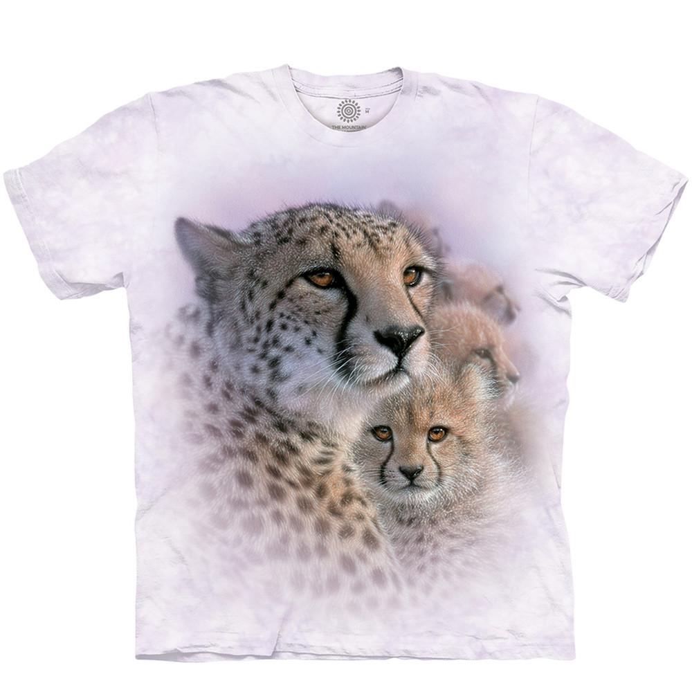 Cheetah Mother's Love Unisex Cotton T-Shirt   The Mountain   TMA106435XL   Cheetah T-Shirt