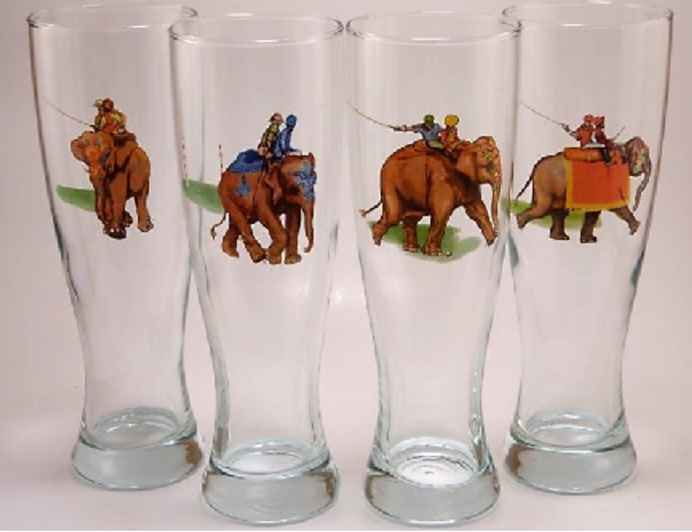 Polo Elephant Pilsner Glass Set | Richard Bishop | 2041EP