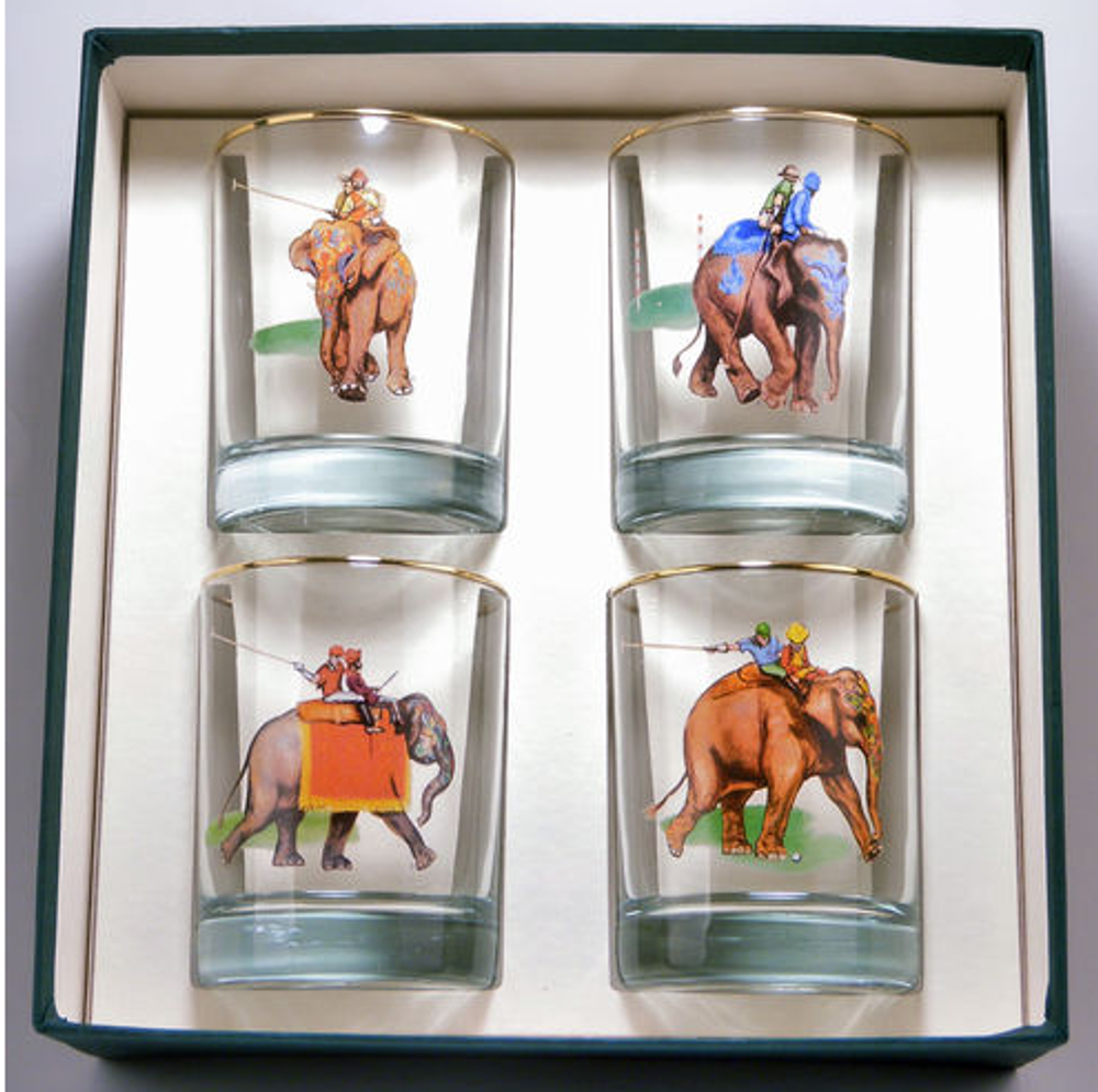 Polo Elephant Double Old Fashion Glass Set | Richard Bishop | 2026EP